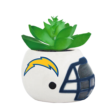 Los Angeles Chargers - Ceramic Helmet Planter – Faux Succulent