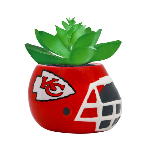 Kansas City Chiefs - Ceramic Helmet Planter – Faux Succulent