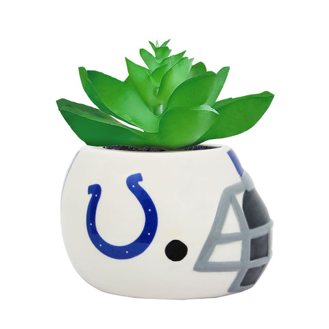 Indianapolis Colts - Ceramic Helmet Planter – Faux Succulent
