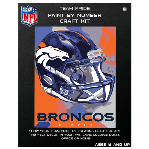 Denver Broncos - Team Pride Paint By Number Craft Kit