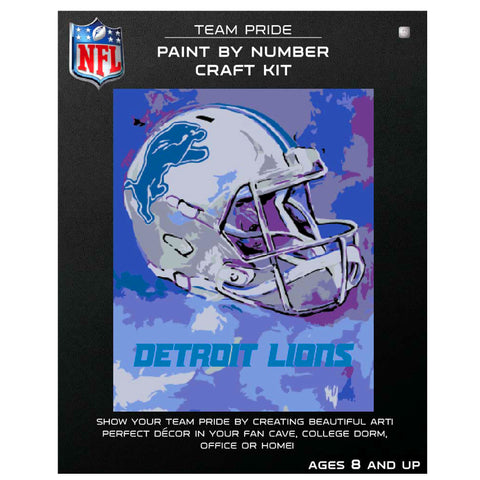 Detroit Lions - Team Pride Paint By Number Craft Kit