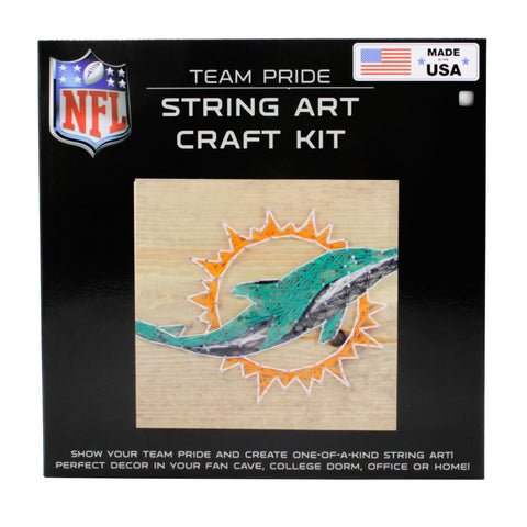 Miami Dolphins - Team Pride String Art Kit