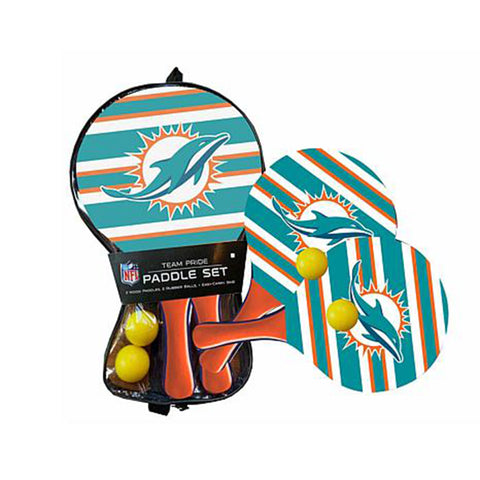 Miami Dolphins - Team Pride Paddle Ball Set