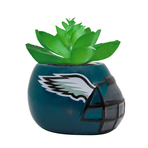 Philadelphia Eagles - Ceramic Helmet Planter – Faux Succulent