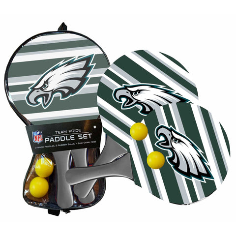 Philadelphia Eagles - Team Pride Paddle Ball Set