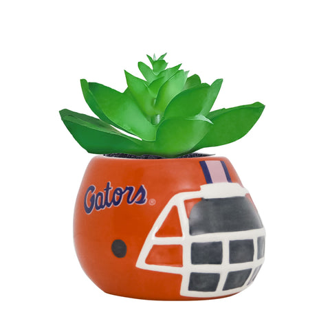 Florida Gators - Ceramic Helmet Planter – Faux Succulent - Pack Of Two