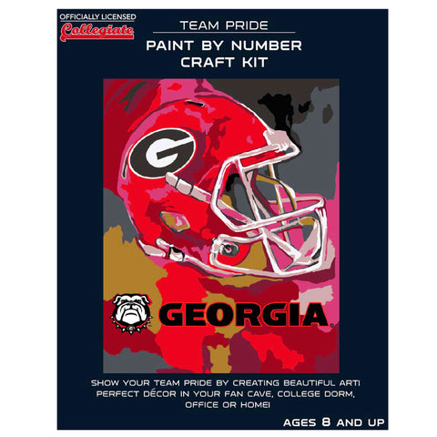 Georgia Bulldogs - Team Pride Paint By Number Craft Kit