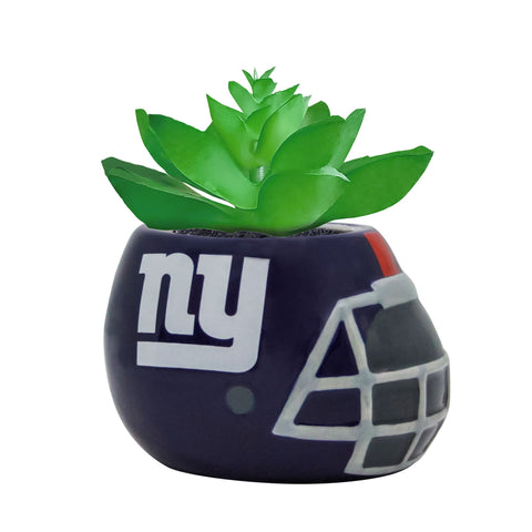 New York Giants - Ceramic Helmet Planter – Faux Succulent - Pack Of Two
