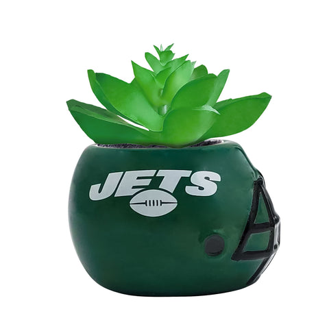 New York Jets - Ceramic Helmet Planter – Faux Succulent