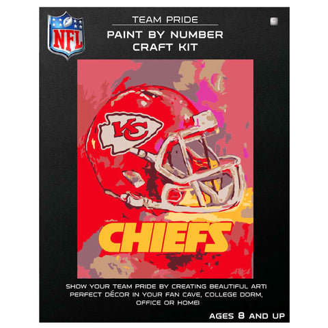 Kansas City Chiefs - Team Pride Paint By Number Craft Kit