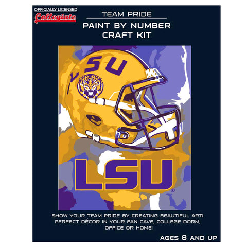 Louisiana State University Tigers - Team Pride Paint By Number Craft Kit