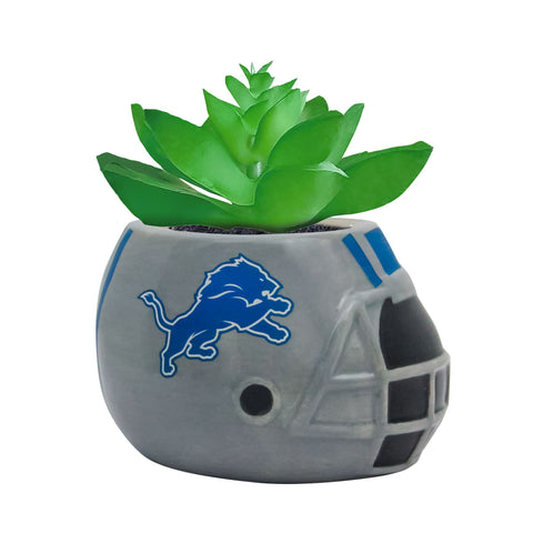 Detroit Lions - Ceramic Helmet Planter – Faux Succulent - Pack Of Two