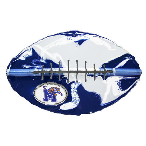 Memphis Tigers - Team Pride Recycled Metal Wall Art Football