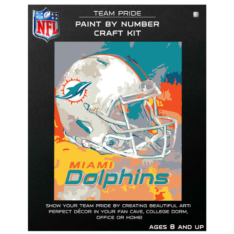 Miami Dolphins - Team Pride Paint By Number Craft Kit