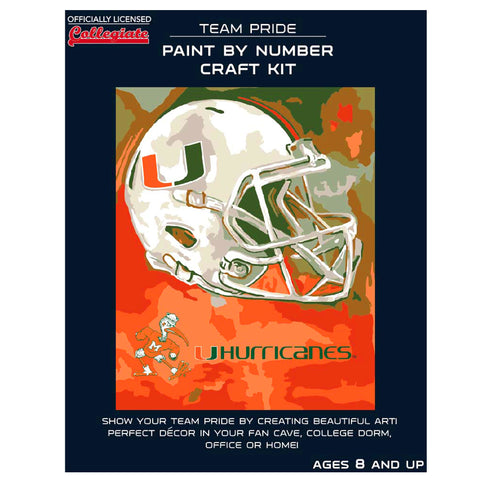 Miami Hurricanes - Team Pride Paint By Number Craft Kit