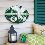 Michigan State Spartans - Team Pride Recycled Metal Wall Art Football