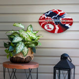 Mississippi Ole Miss Rebels - Team Pride Recycled Metal Wall Art Football