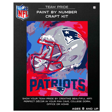 New England Patriots - Team Pride Paint By Numbers Craft Kit