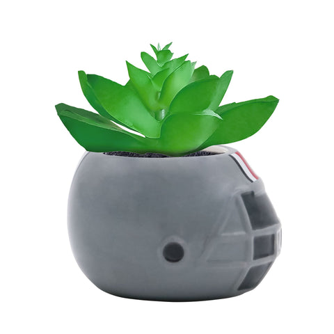 Ohio State Buckeyes - Ceramic Helmet Planter – Faux Succulent - Pack Of Two