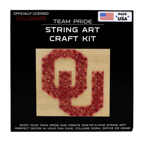 Oklahoma Sooners - Team Pride String Art Kit