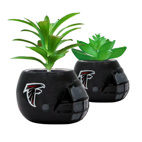 Atlanta Falcons - Ceramic Helmet Planter – Faux Succulent - Pack Of Two