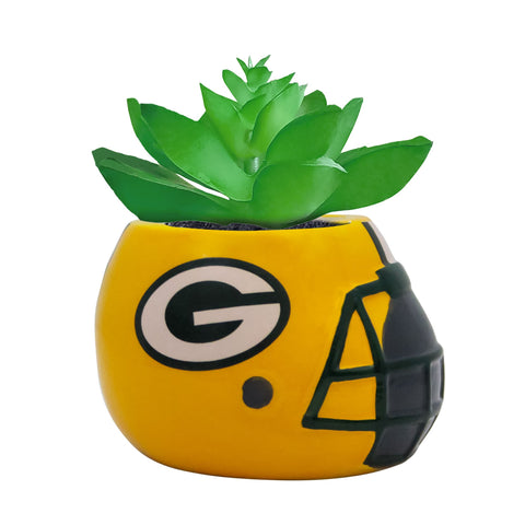Green Bay Packers - Ceramic Helmet Planter – Faux Succulent