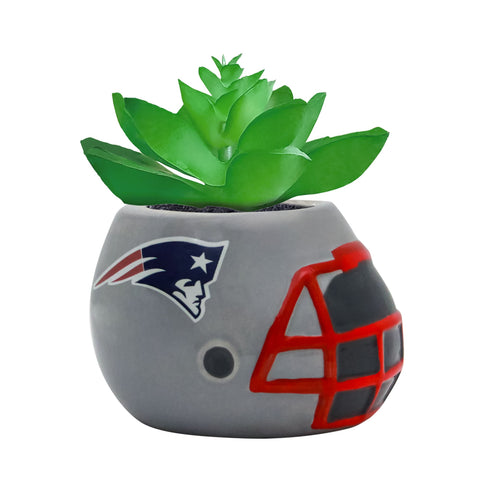 New England Patriots - Ceramic Helmet Planter – Faux Succulent