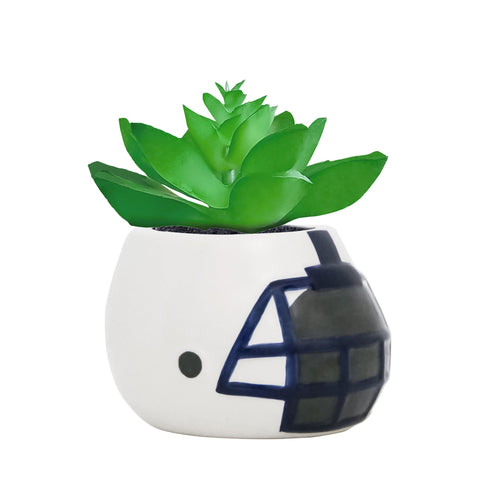 Penn State Nittany Lions - Ceramic Helmet Planter – Faux Succulent