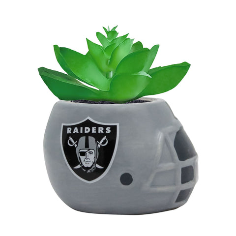 Oakland Raiders - Ceramic Helmet Planter – Faux Succulent