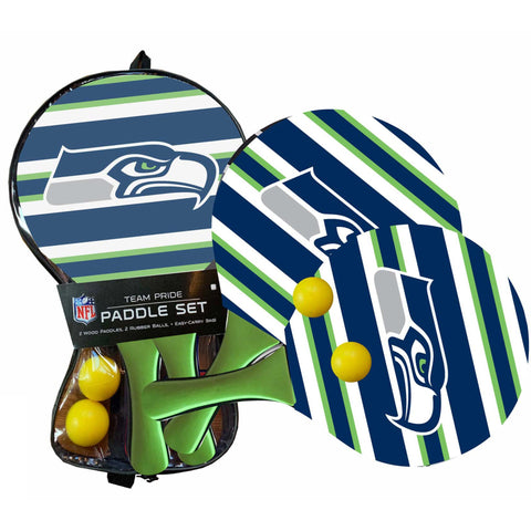 Seattle Seahawks - Team Pride Paddle Ball Set
