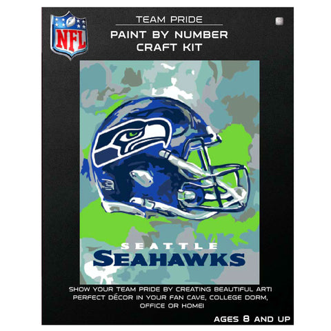 Seattle Seahawks - Team Pride Paint By Number Craft Kit