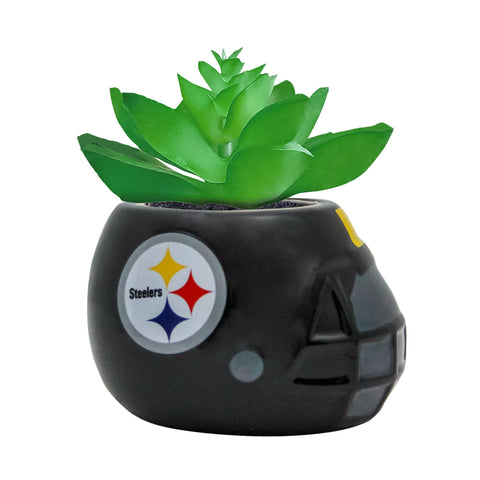 Pittsburgh Steelers - Ceramic Helmet Planter – Faux Succulent