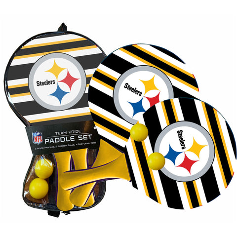Pittsburgh Steelers - Team Pride Paddle Ball Set