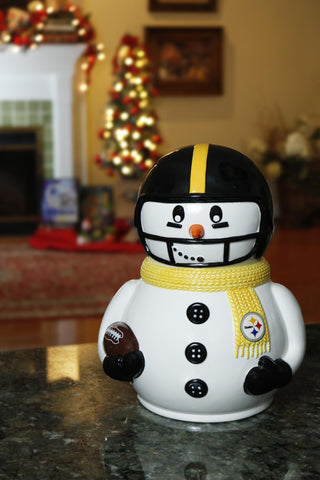 Pittsburgh Steelers Team Pride Ceramic Snowman