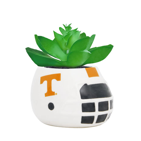 Tennessee Volunteers - Ceramic Helmet Planter – Faux Succulent - Pack Of Two
