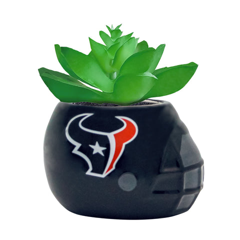 Houston Texans - Ceramic Helmet Planter – Faux Succulent