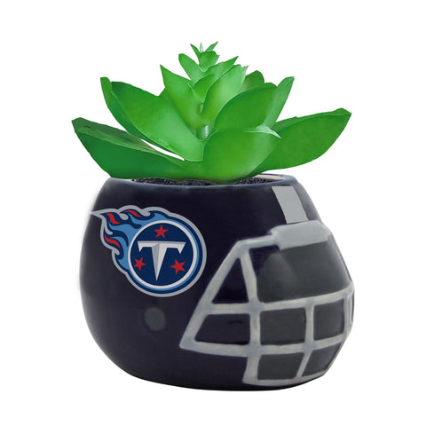 Tennessee Titans - Ceramic Helmet Planter – Faux Succulent - Pack Of Two