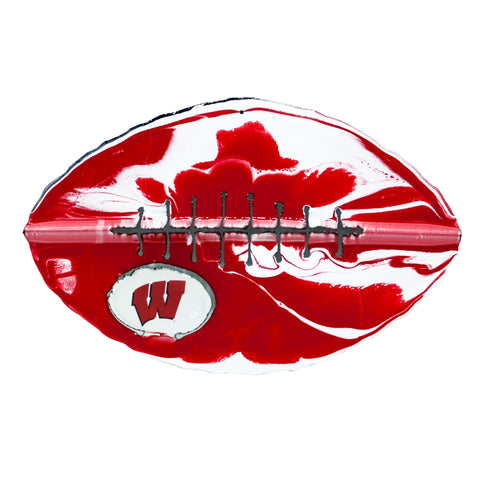 Wisconsin Badgers - Team Pride Recycled Metal Wall Art Football