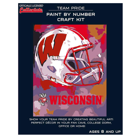 Wisconsin Badgers - Team Pride Paint By Numbers Craft Kit