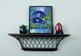 Seattle Seahawks - Ceramic Helmet Planter – Faux Succulent
