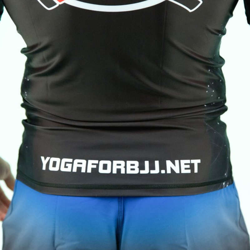 Powerful Yoga for BJJ Rash Guard - Black