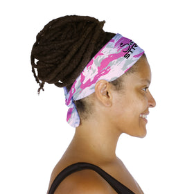 Pink Trout Camo Headband