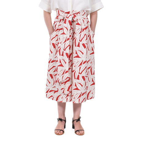 RED/WHITE KIMANI SKIRT