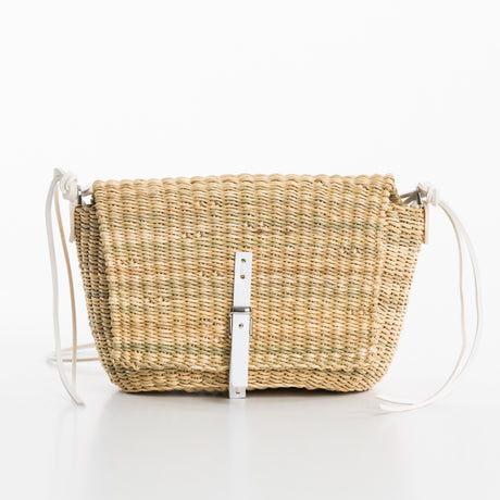 WHITE STRAW BAG