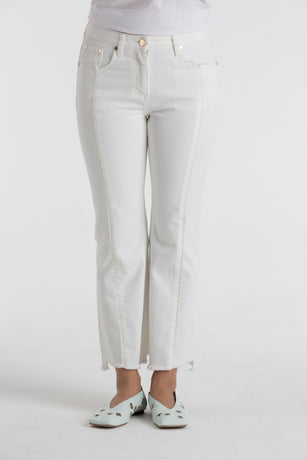 WHITE DENIM PANTS