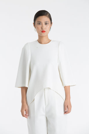 WHITE DOUBLE CLOTH TOP