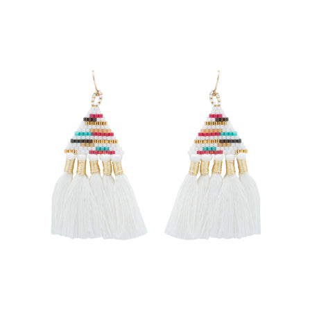 TALITHA WHITE EARRINGS
