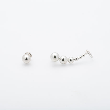 LUNA RHODIUM EAR CUFF
