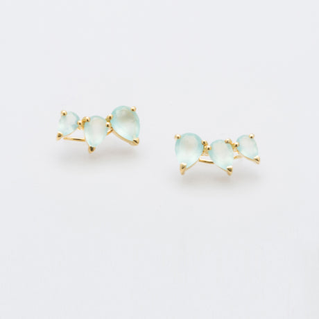 SUNNY AQUA CHALCEDONY EARRINGS