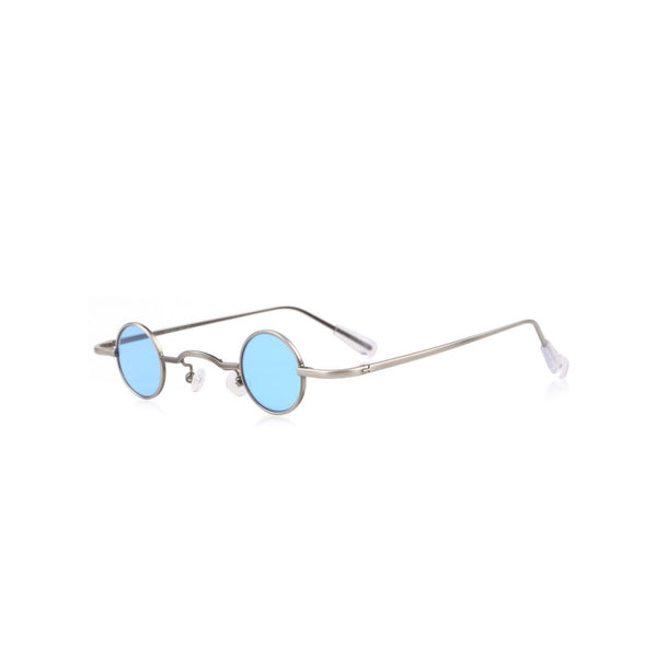 SKY BLUE SMALL CIRCLE GLASSES